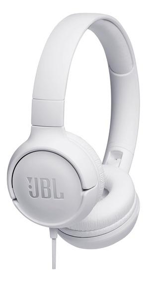 Fone De Ouvido Headphone Jbl Dobrável Com Microfone Branco