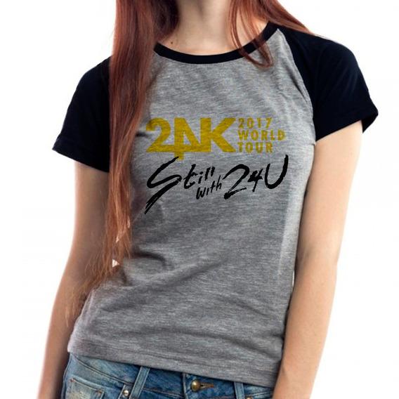 Camiseta 24k Still Tour Kpop Babylook Mescla