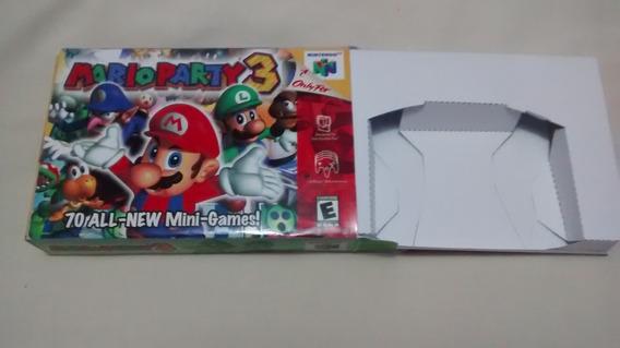 Caixa Com Berço Mario Party 3 Nintendo 64 Leiiia