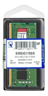 Memoria Ram Ddr4 8gb 2400mhz Kingston De Laptop Kvr24s17s8/8