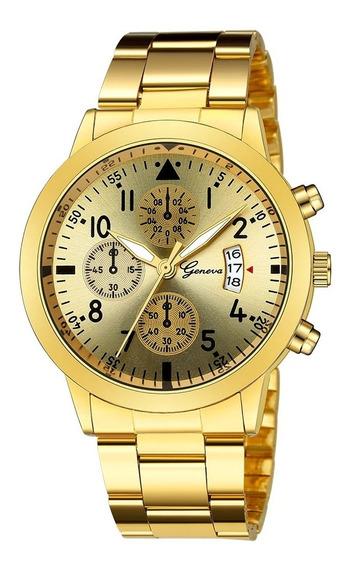 Reloj De Pulsera De Cuarzo De Lujo Deportivo Militar De Acer