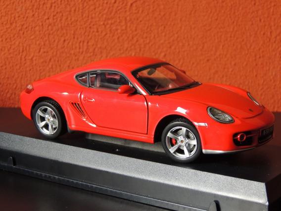 Miniatura Porsche Cayman S Vermelho 1:24 Cararama