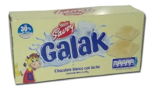 Imagen 1 de 1 de Chocolate Galak Venezolano Importado - kg a $12400