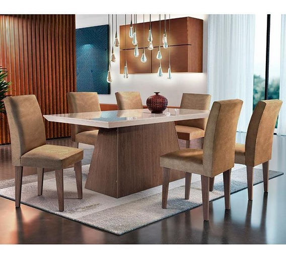 Conjunto De Mesa Luna Com 6 Cadeiras Grécia-rufato