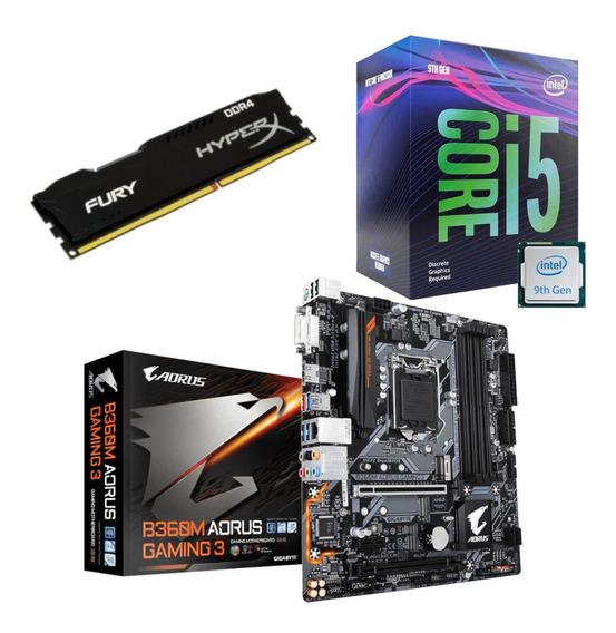 Kit Intel I5 9400f Aorus B360m Gaming 3 Fury 8gb 2400mhz