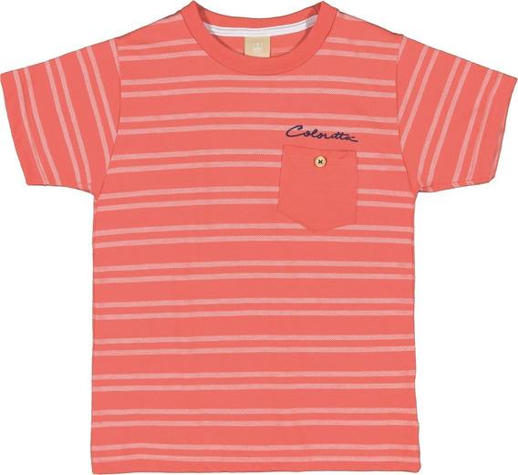 Camiseta Infantil Masculina Coloritta Listras