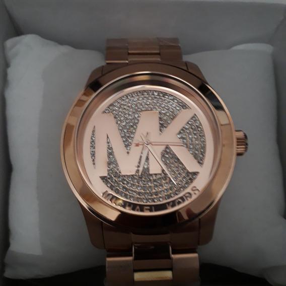 Relógio Michael Kors Mk5661 Runway Rose Logo Mk