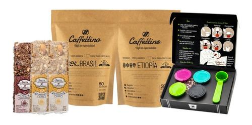 Imagen 1 de 1 de Kit Tentación África Nespresso Con Barras Crocantes