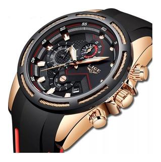 Relógio Masculino Lige Casual Esportivo Pulseira Silicone