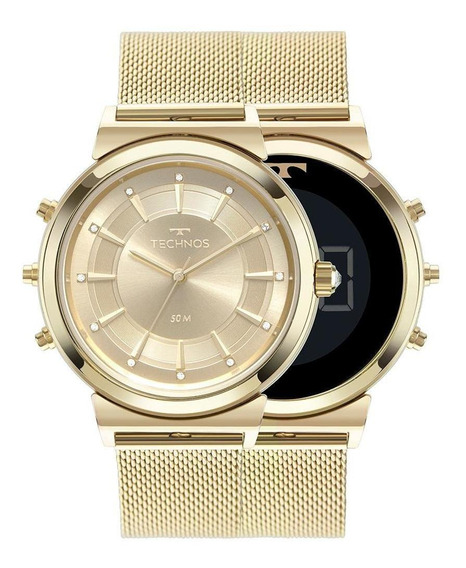 Relógio Technos Feminino Digital Dourado - 9t33aa/4x