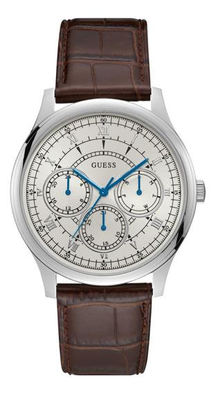 Relógio Masculino Guess Couro Marrom 92724g0gdnc2 C Garantia
