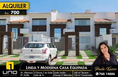 Moderna Casa Equipada En Alquiler