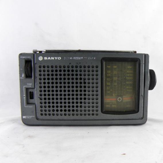 Rádio Antigo Sanyo 3 Band Receiver C/ Defeito