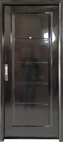 Imagen 1 de 1 de Puerta Doble Chapa 80x200 Manijon Cromado Terra Alfa Metal