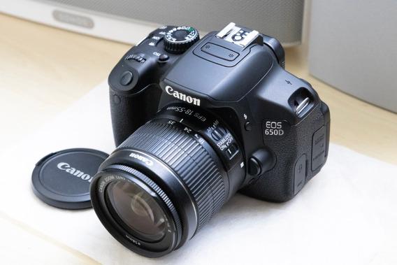 Câmera Digital Canon Eos 650d Kit Com Lente