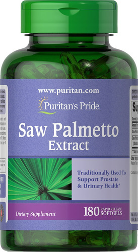 Puritans Saw Palmetto 180 Softgels Importado De Usa