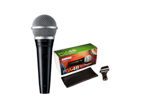 Microfone Shure Pga48lc Sem Cabo Original