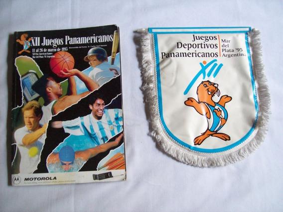 1 Banderín + 1 Revista De Los Juegos Panamericanos Mdq´95