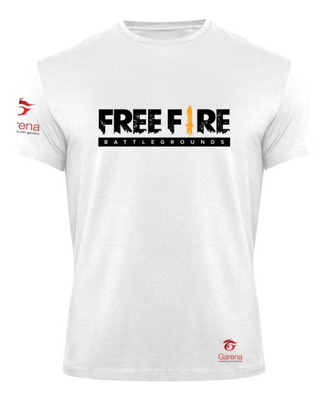 Camiseta Free Fire Mobile Garena Geek Nickname Personalizado