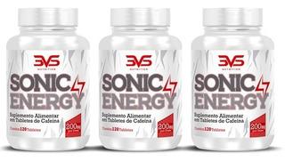 Combo 3x Sonic 120 Caps 3vs Termogênico Cafeina