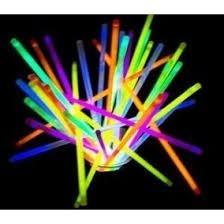 100 Pulseras Luminosas Cyalume Neón Varios Colores Fiesta