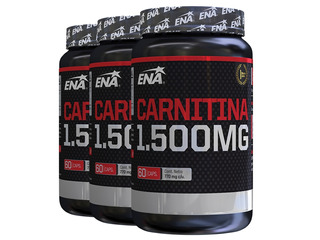 Carnitina 1500 X 180 Caps Ena (3 Frascos De 60 Caps)