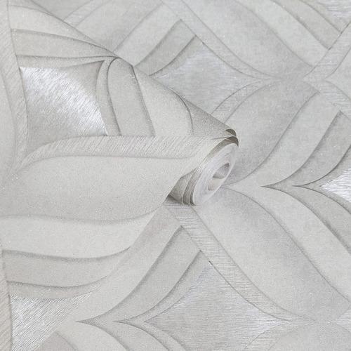 Imagem 1 de 8 de Papel De Parede Vinílico Moderno Alto Relevo Glitter + Cola