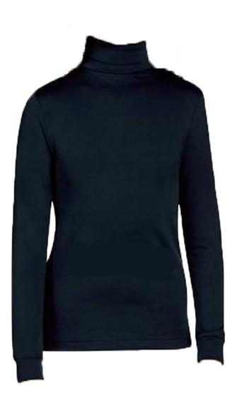 Camiseta Térmica Infantil Cuello Media Polera Unisex Colegio