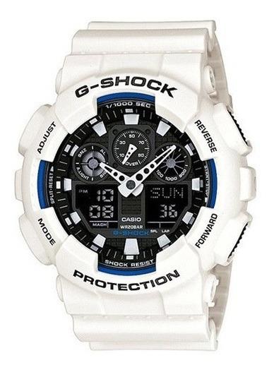 Relógio Casio G-shock Masculino Preto/branco Ga-100b-7adr