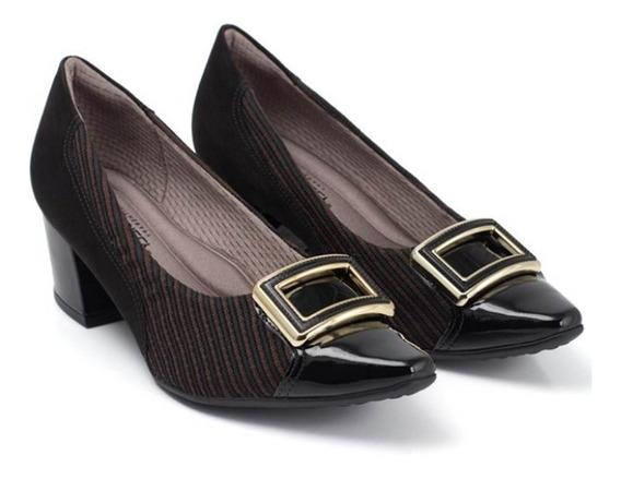 Sapato Feminino Piccadilly Maxitherapy Joanete 744070 Preto