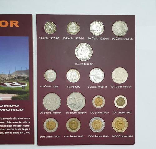 Imagen 1 de 6 de Coleccion Monedas De Ecuador 1937-1997 Sucres + Album Nuevo