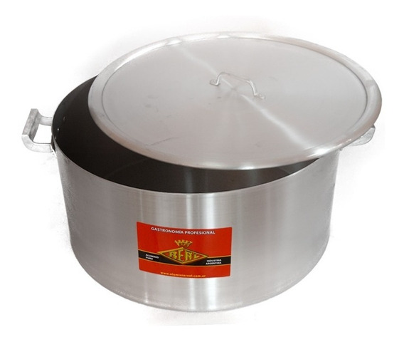 Cacerola Gastronómica N°50 - 50 Lts - Aluminio Puro