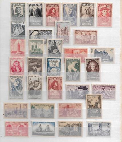 Imagen 1 de 1 de Lote Estampillas De Francia Varios Años Nuevas ;:::