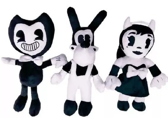 Peluche Muñeco Bendy And The Ink Machine Boris Alice 30cm
