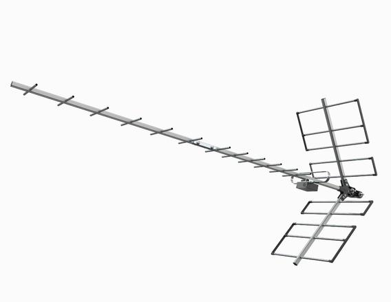 Antena Digital Terrestre Uhf Yagi Proeletronic Hdtv
