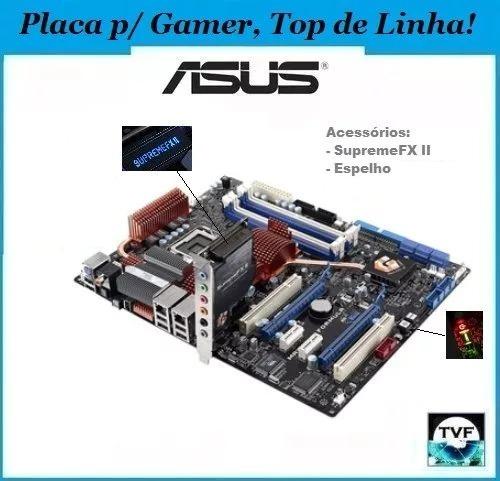 Placa Mãe Gamer Top Rog Asus Maximus Formula 775 Até Qx9770