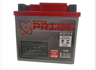 Bateria Prime 5pm 5 Amperes Ah Titan-150 Ks/es/esd/crf-230/bros-150 Esd