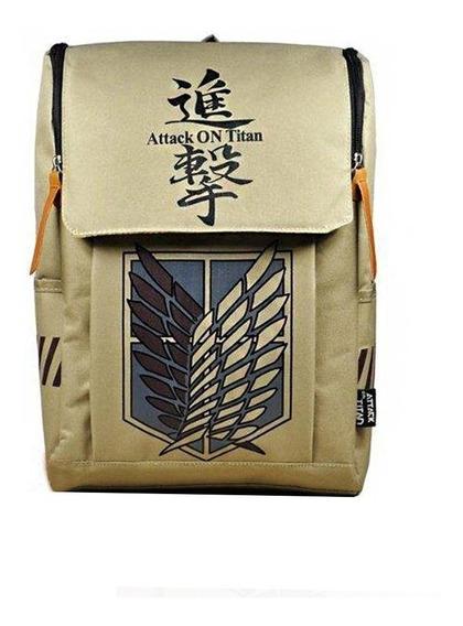 Attack On Titan Backpack Canvas Rucksack Anime Book Bag Lapt