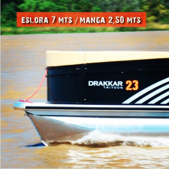 Ponton Drakkar 23 Pie Tritoon C/evinrude E-tec 115hp Dsl