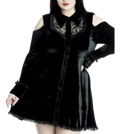 Vestido Terciopelo Goth Gótica Plus Size Te904
