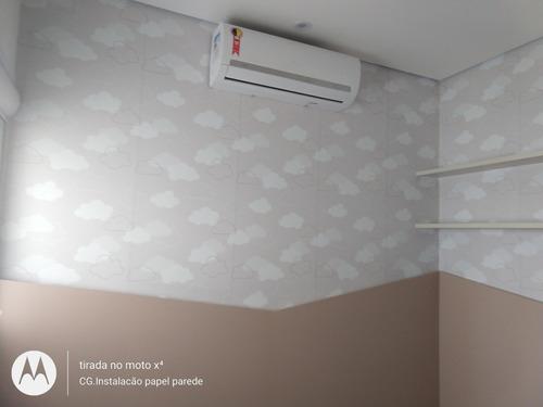 Imagem 1 de 4 de Cg.instalacão Papel Parede E Adsivos
