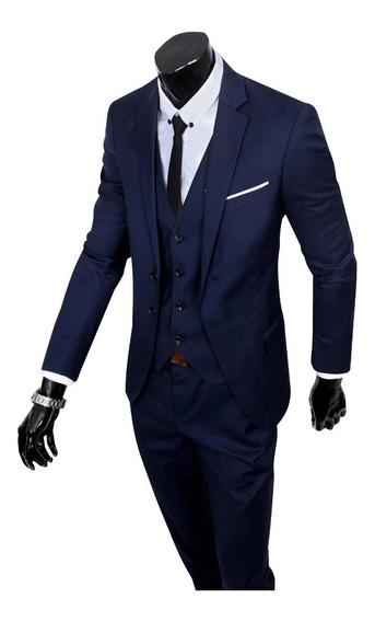 Terno Slim Masculino Oxford Promoção + Gravata 3d