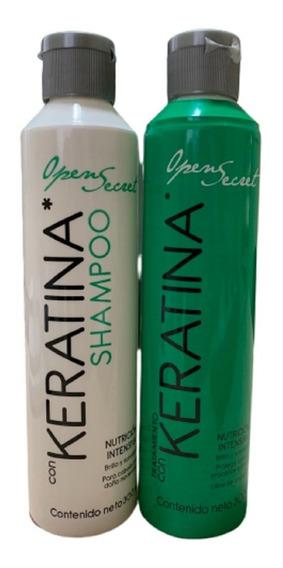 Duo Shampoo Y Tratamiento De Keratina Open Secret 300ml