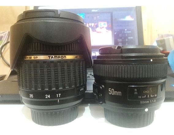 Lentes Nikon Tamaron 17:50 2.8 Youngno 50mm 1.8