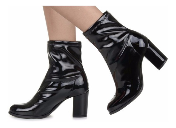 Bota Feminina Botinha Ankle Boot Bota Cano Curto Mulher Estilosa Modelo Estiloso Tendência Salto Alto - 9010