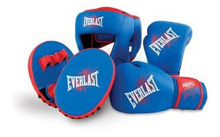 Everlast Guantes Box Foco Y Cabezal Entrenamiento P/ Chicos Niños Prospect Complete Boxing Kit Baires Deportes Oeste Gba