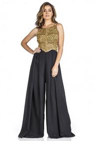Vestido Longo Bordado Avizowear , Perfectway , Vanessalima