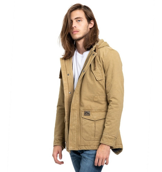 Campera Parka Hombre Rusty Manchester Beige
