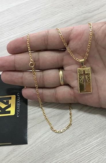 Corrente Piastrini 2,5mm Banhada A Ouro 18k Semijoia