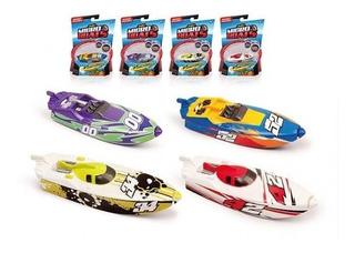 Conjunto Com 4 Micro Boats Veículo Aquático Lancha Dtc Zuru